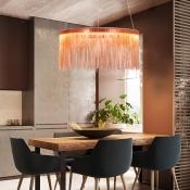 Rose Gold Fringe Pendant Light Post Modern Aluminum 1 Tier/2 Tier/3 Tier Designer Metal LED Chandelier for Stores Foyer Hotel Staircase