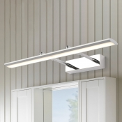 Adjustable Light Modern Bathroom Vanity Light with Swivel Lamp Head 9W-16W LED Neutral Acrylic Vanity Lights in Chrome