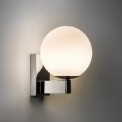 Sphere Wall Mount Fixture Modern Fashion Opal Glass 1 Head Wall Light in Chrome