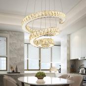 Modern Fashion Spiral Suspension Light Crystal LED Chandelier Lamp in Warm/White