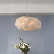 Cloud Shape Pendant Light Contemporary Cotton Decorative Hanging Light for Children Room