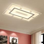 Linear Lighting Fixture Minimalist Modernism Energy Saving Acrylic LED Flush Light in Warm/White