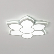 Acrylic Flower Flush Mount Light Contemporary LED Ceiling Fixture in White/Warm for Foyer