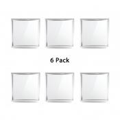 (6 Pack)Aluminum LED Flush Mount Light 12*12 Inch Square Wireless Ceiling Light Recessed in White for Dining Room Bedroom