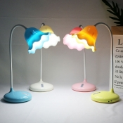 Eye Caring Flower Shade Desk Light White/Blue/Pink/Yellow Touch Control Reading Light for Kids Student