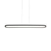 Black/White Linear Pendant Light Contemporary Aluminum LED Suspension Light in Neutral/White for Parking