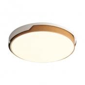 Acrylic Slim Panel Ceiling Mount Light Living Room Asian Style Flush Light in Warm/White