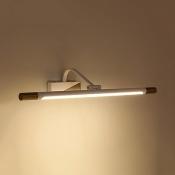 Modern Rotatable Tube Sconce Light 19/25 Inch Waterproof Vanity Light in White for Makeup Table