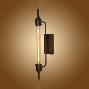 Metal Linear Wall Light Restaurant Cafe One Light American Rustic Wall Lamp in Bronze