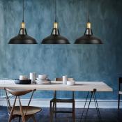 Industrial Retro Barn Single Pendant Light in Black for Farmhouse Kitchen Island Restaurant