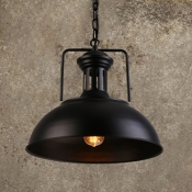 Vintage Pendant Light with Dome Metal Shade 16
