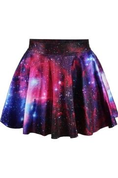 High waist Galaxy Tie Dye Pleated Mini Skirt
