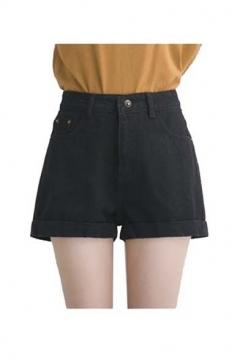 Denim Vintage Retro High Waist Jeans Short