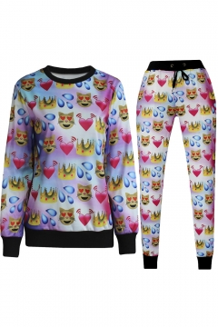 3D Emoji Printed Teen Jogger Pants Sweatpants Track Suit S-XL