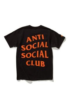 Contrast ANTI SOCIAL SOCIAL CLUB Printed Short Sleeve Round Neck Off-Duty Tee