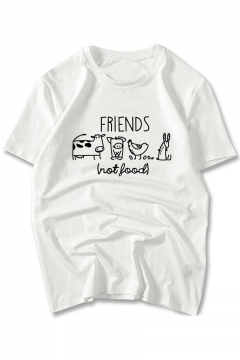 FRIENDS Animal Printed Round Neck Short Sleeve Comfort Tee