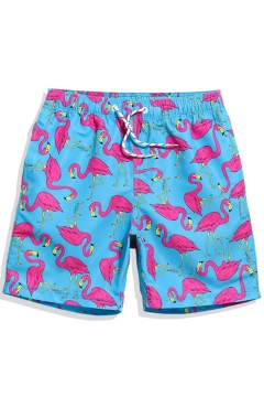 fb056f85bc318 ... Shark Fish Beach Shorts for Men with Mesh Brief: USD $29.15USD $41.04.  Funny Quick Drying Blue Pink Flamingo Drawcord Beachwear for Men with  Pockets