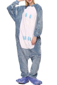 ab7815a07b Blue Night Owl Cosplay Fleece Unisex Carnival Onesies Sleepwear Pajamas