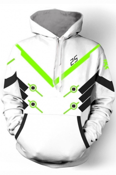 Overwatch Fashion 3D Printing Cosplay Costume White Unisex Loose Casual Hoodie