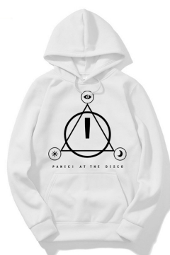 Funny Letter PANIC AT THE DISCO Print Loose Leisure Pullover Unisex Graphic Hoodie