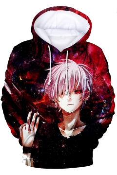 Tokyo Ghoul Cool Comic Character Printed Long Sleeve Relaxed Fit Hoodie