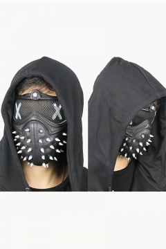Watch Dogs 2 Mask Marcus Mask Wrench Party Halloween Stage Cosplay Punk Gothic Rivet Face Mask