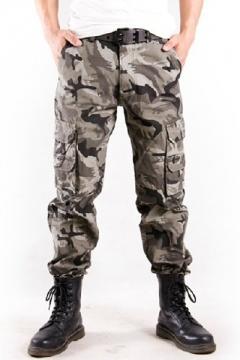 9edf20d27cda7c Mens Cool Outdoor Fashion Camoflage Print Cotton Casual Utility Pants Cargo  Pants