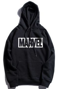 Marvel Simple Letter Street Cool Fashion Casual Loose Hoodie