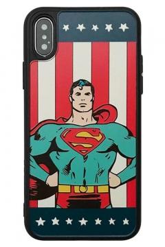 Superman Flag Printed Fashion Silicone iPhone Case
