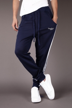 Guys Simple Letter TOP HERE SPORT Fashion Stripe Side Casual Sweatpants