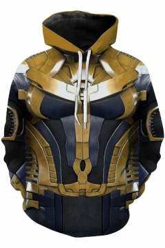 Popular Cosplay Unisex Pullover Gold Hoodie
