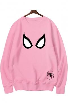 Cool Pattern Round Neck Long Sleeve Pullover Sweatshirt