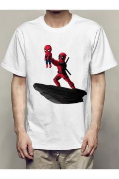 The Avengers 3 Comic Figure Printed Short Sleeve White Unisex Basic T-Shirt
