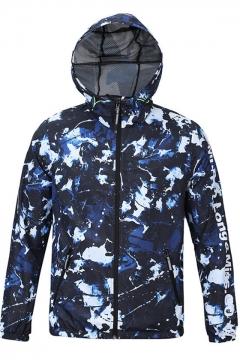Outdoor Fashion Camo Printed Quick-Drying Waterproof Sport Windbreaker Coat