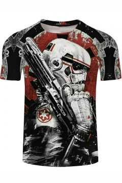 Star Wars Soldier Cool 3D Printed Short Sleeve Classic Fit T-Shirt