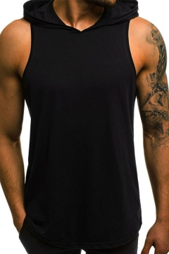 97b05b7e2 ... Unique Cool Skull Mask Hooded Sleeveless Summer Fitted Tank T-Shirt for  Men. USD $18.57. USD $28.81. (448). Mens Basic Simple Solid Color Sleeveless  ...