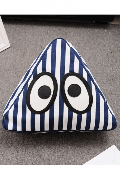 Cute Cartoon Eye stripe Printed Triangle Backpack