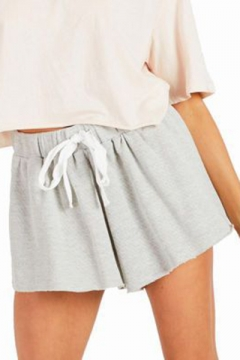Womens Summer Basic Solid Color Drawstring Waist Sport Athletic Sweat Shorts