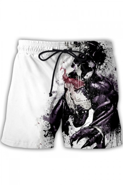 Cool Venom Pattern Drawcord Waist Loose Fit Sport Athletic Beach Shorts for Men