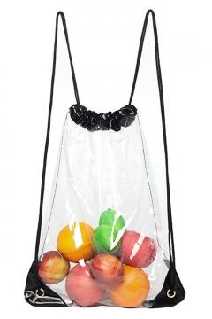 0c7a6c111 Unique Waterproof Transparent PVC Drawstring Backpack 40*30*1 CM