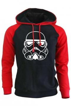 Star Wars Darth Vader Color Block Raglan Sleeve Fitted Pullover Hoodie