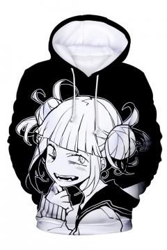 Comic Girl 3D Printed Drawstring Hooded Long Sleeve Unisex Pullover Hoodie