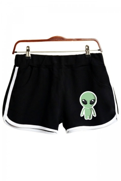 Funny Cute Cartoon Alien Printed Casual Sport Dolphin Shorts
