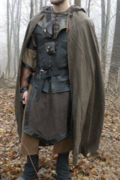 Men's Hot Fashion Middle Ages Cosplay Costume Plain Hooded Cape Cloak