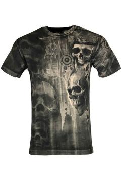 New Trendy Skull 3D Printed Short Sleeve Black Fashion T-Shirt