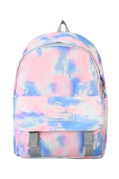 Fancy Trendy Letter MH SUPERAMD Print Tie Dye Large Capacity Backpack