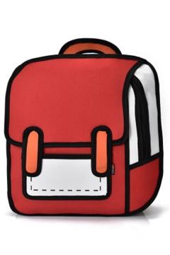 Comic 3D Print Kawaii New Fashion Backpack for Students