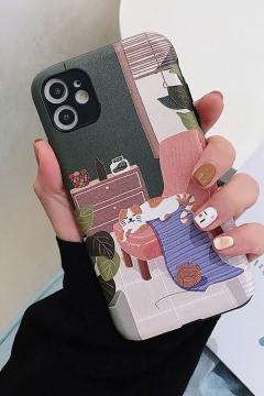 Stylish Unique Cartoon Cat Printed iPhone 11 Pro Max Phone Case