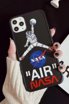 Cool Fashionable Letter AIR NASA Astronaut Planet Graphic iPhone 11 Pro Phone Case