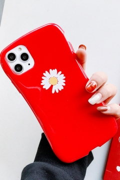 Fancy Silicone Flower Printed iPhone 11 / X Phone Case